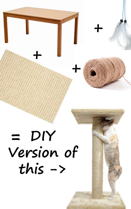 Buying a cat tree why not diy the paris cat - How to make a simple cat tree ...